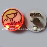 工場印刷されるロゴの卸し売り安いLED点滅Pinのバッジ(3569)