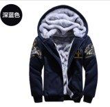 Вытяните над курткой Hoody толщиной тяжелой ватки людей теплой с изготовленный на заказ печатание