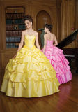 Beaded подгонянные платья шарика мантий Quinceanera платья выпускного вечера Tulle сборок,