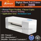 Boway 360bの手動ペーパーはすべる機械を押す招待のカードのデジタル熱いホイルを広げる