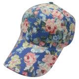 Gorra de béisbol de los 6 paneles con la tela floral Bb117