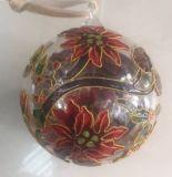Sfera di vetro di Enamal con il fiore
