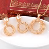 熱い販売の模造女性の円デザイン網の水晶宝石類セット