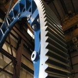 Fundición de acero de alta calidad de metal de hierro fundido engranaje helicoidal para el reductor de velocidad