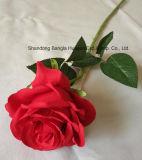 인공 꽃 발렌타인 데이 동안 실크 단 하나 로즈 실제적인 접촉