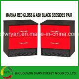 أحمر عال لمعان & رماد أسود حديثة غرفة نوم أثاث لازم وحدات & غرفة نوم مجموعة