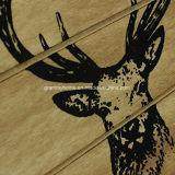 포도 수확 인쇄되는 주문을 받아서 만들어진 로고를 가진 자연적인 나무로 되는 저장 크레이트