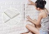 Tuile imperméable à l'eau auto-adhésive de panneau de mur de la mousse 3D du papier de mur XPE