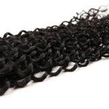 7A 자연적인 색깔 비꼬인 꼬부라진 길쌈하는 100%년 Virgin 페루 머리