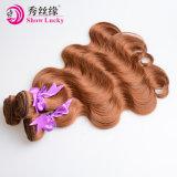Het in het groot Menselijke Haar van de Kleur van het Haar van het Haar van de Hoogste Kwaliteit Peruviaanse Weft Maagdelijke Bruine