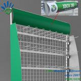 Fördernder Metalldraht-Ineinander greifen-Nahrungsmittelregal-Supermarkt-Ausstellungsstand mit Fahne Advertisting