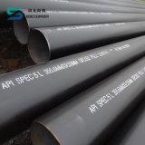 Linha soldada tubulação de aço da espiral do carbono do revestimento do API 3PE para peças sobresselentes do petróleo e do automóvel da água