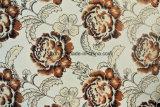 印刷の花模様の編まれたファブリック