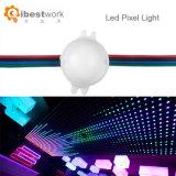 Cc12V etapa de cambio de color RGB direccionable píxel luz LED de 30 mm.