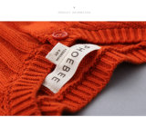 Baumwollstrickende Strickjacke 100% für Mädchen