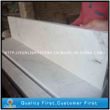 Azulejos de mármol blancos baratos Polished de Guangxi para la escalera y el travesaño