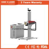 Máquina de grabado de cobre amarillo de la etiqueta de plástico del laser de la máquina de la marca del laser de China
