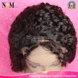 인도 주문품 사람의 모발 정면 레이스 가발 깊은 파 꼬부라진 130%/150%/180%/200% 조밀도 자연적인 가는선 인도 머리 가발 가격