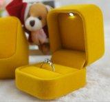 Подгонянные бархат СИД светлые/коробка ювелирных изделий фланели, коробка кольца СИД светлая, коробка кольца предложения
