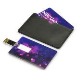 Vara feita sob encomenda do USB do cartão de crédito da movimentação do flash do USB do cartão do logotipo