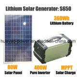 400W 순수한 사인 파동 변환장치 태양 에너지 휴대용 발전소