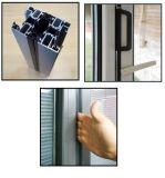 曖昧なガラス右のフォールドのアルミニウムテラスのBifoldドア