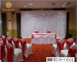 White Color LED Flexible device Training course Star Curtain Background for Wedding Club Party