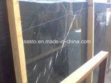 Черный мрамор Marquina слоя для строительного материала