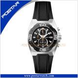 En acier inoxydable Miyota Chronograph montre à quartz montre-bracelet