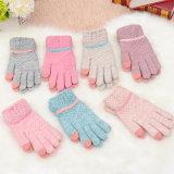 Горячий моды на заводе оптовые дешевые теплые трикотажные Custom Cute Funny зимой женщин вязаные шерстяные перчатки