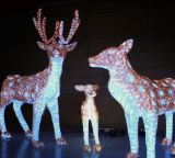 Feriado do Natal Decoração 3D Motif Cavalo impermeável LED Poste