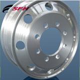 6 de gaten poetsten het 17.5X6.75 Gesmede Materiaal van het Aluminium van de Legering van het Wiel van de Vrachtwagen op
