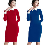 Robe en bonne santé de Bodycon MIDI de crayon de local commercial de robe de travail de femmes d'automne