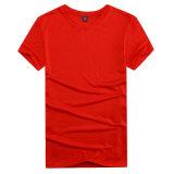 中国製カスタムロゴの印刷を用いる人のためのOEMのTシャツ