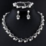 Insieme d'imitazione classico dei monili di Oro-Colore della collana della perla