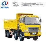 HOWO 6*4 액압 실린더 덤프 트럭 또는 팁 주는 사람 후방 쓰레기꾼 트럭