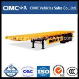 Cimc 40ft 3Contenedor de superficie plana del eje semi remolque