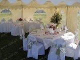 Grande tenda foranea di lusso della festa nuziale con la decorazione piena dei rivestimenti