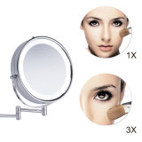 Miroir fixé au mur lumineux par DEL 3X de 8.5 pouces magnifiant