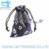 Cuerda plegable cordón bolsas Bolsa de algodón con logotipo personalizado para ir de compras