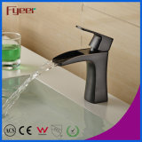 Fyeer New Black Water Tap Waterfall Brass Basin Faucet