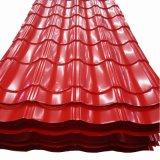 PPGI Prepainted Hoja de techos de cartón ondulado