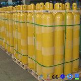 cilindro di ossigeno d'acciaio 1.8L-80L con la valvola e la protezione