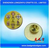 다채로운 단단한 사기질 접어젖힌 옷깃 Pin 꽃