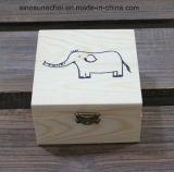 [كستومزيد] مستطيلة صغيرة [ستورج بوإكس] خشبيّة مع [برتينغ] علامة تجاريّة