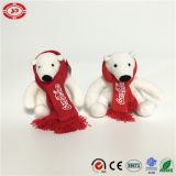Scarf Plush Stuffed Party Bear Toy를 가진 상표 코카나무 Cola White