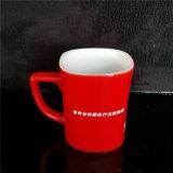 カスタム飲み物のためのマグによって印刷される黒く赤い陶磁器のコップ