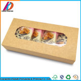 Kundenspezifisches Packpapier-Biskuit-Geschenk-verpackenkasten mit Fenster