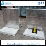 Barrière en aluminium de barrière digne de confiance de garantie avec la fabrication de pente