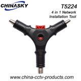 Многофункциональная установка коаксиальный кабель RG59/6 съемника для (T) HTR5224